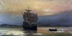 Mayflower in 1609 -bron Wikipedia-